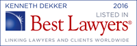 Ken Dekker Listed in Best Lawyers 2016